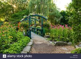 beautiful gardens of the centre de la nature located in laval