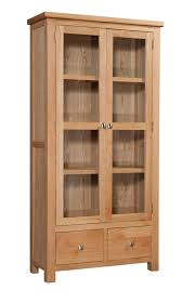 storage display cabinets dorset light oak display cabinet with