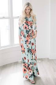 maxi dresses mint floral maxi modest dress best and affordable