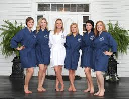 waffle robes for bridesmaids navy robe monogram bridesmaids gift waffle weave by shopmemento