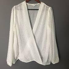 swiss dot blouse 67 boden tops nwot boden faux wrap swiss dot blouse from