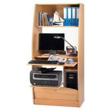 bureau informatique en bois bureau informatique en bois avec rideau à serrure hêtre