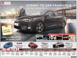 car advertisement corolla altis the global sedan car ad advert gallery