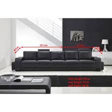 canapé cuir 5 places droit grand canapé droit en cuir pleine fleur fabio 5 places option lit co