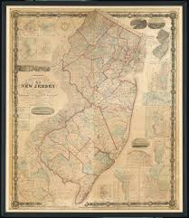 State Of New Jersey Map by About Our 1860 New Jersey Topographical Wall Map Chester Library