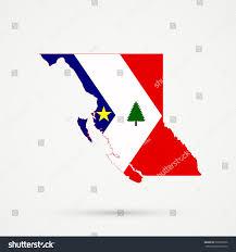 Flag British Columbia British Columbia Map New England Acadians Stock Vector 539603536