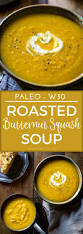 roasted paleo butternut squash soup with apple noshtastic