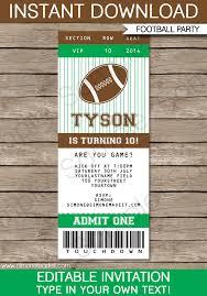 Football Ticket Template football ticket invitation template football ticket ticket