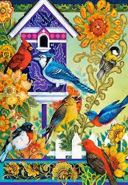The Backyard Bird Company - puzzle david galchutt the backyard gathering castorland 104000
