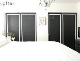 Updating Closet Doors Update Closet Doors Black Painted Flat Closet Doors Update Via