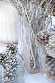 Home Decor Branches Furniture Design White Christmas Centerpieces