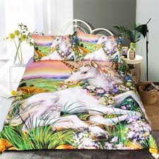 Unicorn Bed Set 3d Unicorn Bedding Set Varietyonex