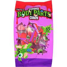 frankford gummy body parts candy 65 ct 17 2 oz walmart com