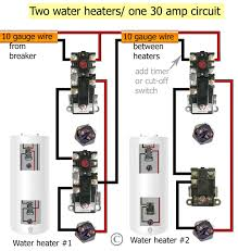 wiring a electric water heater diagram tamahuproject org
