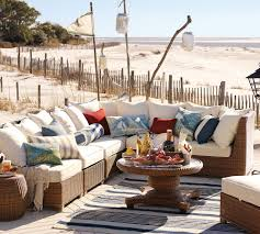 Round Sectional Patio Furniture - cozy beachfront house with patio furniture set feat wicker