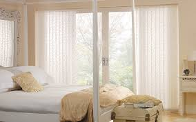 interior white patterned modern vertical blinds with white