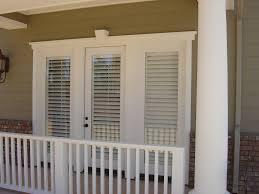 shutters on french doors outside view window shutters