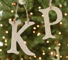 Gold Glitter Christmas Decorations by Glitter Alphabet Letter Ornaments Pottery Barn Kids