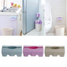 Storage Boxes Bathroom Wall Mounted Garbage Bag Storage Box Container Kitchen Bathroom