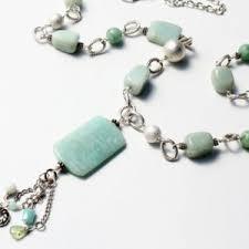 Handcrafted Handmade Semiprecious Gemstone Beaded Amazonite Necklaces Beadage