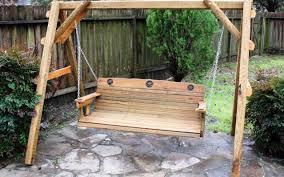 Patio Stones Walmart by Bench Wooden Bench Swing Revelation Garden Swing Bench