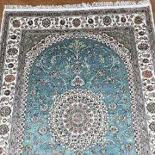 Aqua Silk Rugs 4x6 Aqua Sky Blue Persian Silk Rugs Hand Knotted Oriental Area
