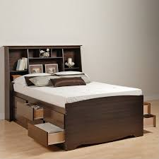 Bed Frames With Storage Drawers And Headboard Bed Bookcase Headboard