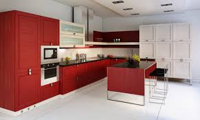 Red And White Kitchen by L Shaped Kitchen Designs With Island Pictures Outofhome