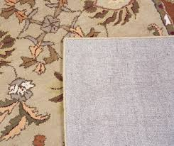 5 X 8 Rug Pad Beige Salmon Green Brown Hand Tufted Wool Area Rug Traditional
