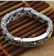bracelet homme images Big bracelet men bracelet homme 925 silver bracelet 21cm in chain jpg