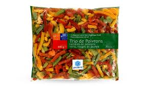 cuisiner des poivrons verts trio de poivrons surgelés les légumes picard