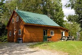 maine lakefront cabins camping and platform tent rentals on the