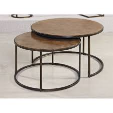hammary coffee table hammary tacoma round cocktail table in rustic