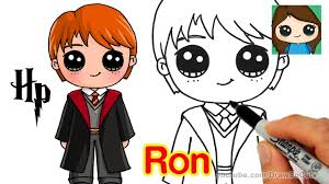 Cute Halloween Pictures To Draw How To Draw Ron Weasley Easy Harry Potter Youtube