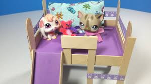 Build A Bear Bunk Bed With Desk by How To Make An Lps Loft Bed With Optional Slide U0026 Desk Doll Diy