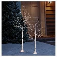 philips 6ft prelit slim artificial birch twig tree warm