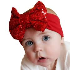 headband with bow voberry baby photo props turban cotton sequins