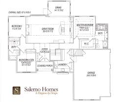craftsman style home floor plans floor plans of custom build homes from salerno homes llc