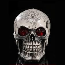Life Size Halloween Skeleton by Readaeer Life Size Replica Realistic Human Skull Head Bone Model