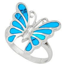 blue butterfly rings images 925 silver green abalone paua seashell butterfly ring jewelry size JPG