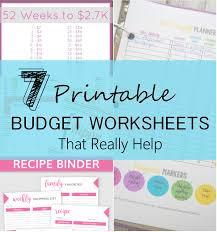 Complete Budget Worksheet 7 Printable Budget Worksheets That Really Help Six Feet Under Blog