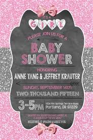pink and silver baby shower glitter baby girl shower invitations chalkboard glitter sparkle