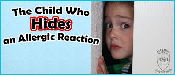 the child who hides an allergic reaction allergy superheroes blog