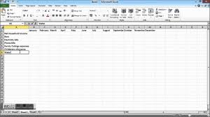 Rental Income Expenses Spreadsheet Household Budget Spreadshet How To Create A Household Budget