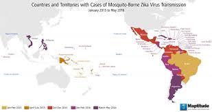 map of usa zika maptitude map countries with zika virus