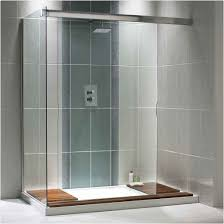 modern bathroom shower tile ideas wooden wall mounted cabinets