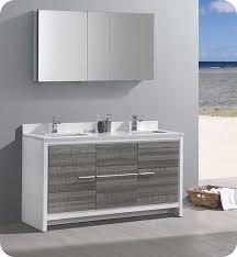 fresca allier 36 quot wenge brown modern bathroom vanity w fresca fvn8119ha allier rio 60 ash gray double sink modern bathroom