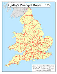 Southampton England Map by Department Of Geography Cambridge Ogilby U0027s Roads 1675