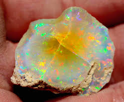 green opal rock orange heart in this wollo rough opal nature minerals gems