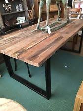 rustic metal and wood dining table reclaimed wood kitchen dining tables rustic ebay